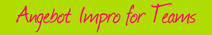 angebote impro for teams